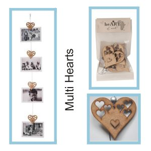 photo string Multi Heart 1