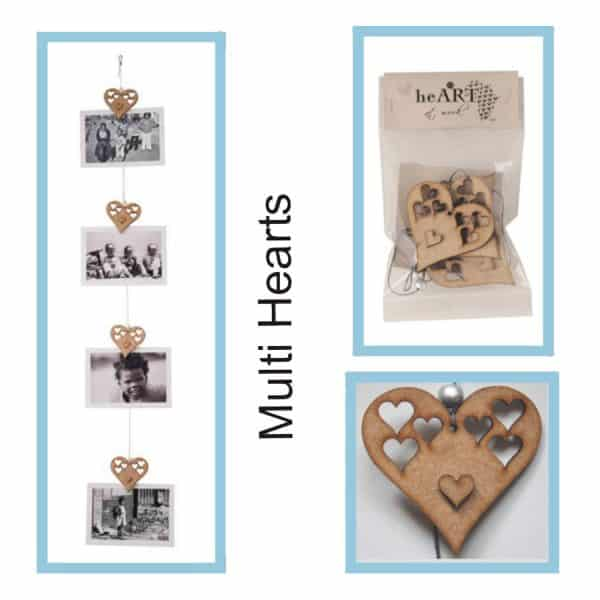photo string Multi Heart 1