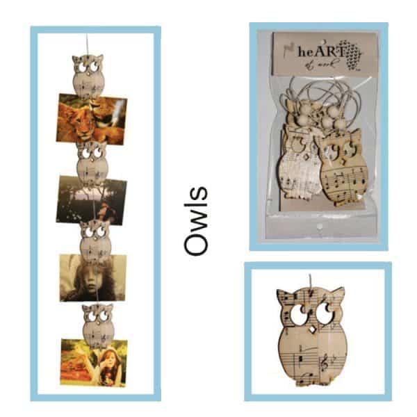 photo string owls